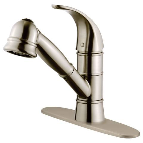 LK14B Pull Out Kitchen Faucet, Brushed Nickel Finish