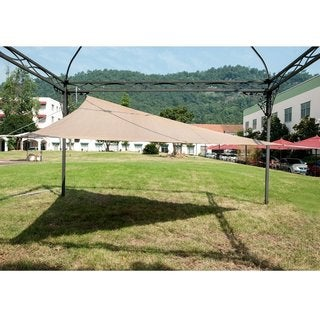 Abba Patio Outdoor Triangle Sun Shade Sail Canopy Shelter With Stainless Steel D-Rings, UV Block Polyethylene, Brown