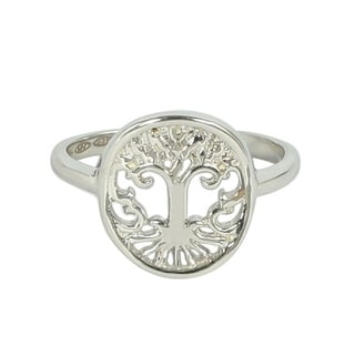 Platinum Tree of Life Ring (Option: 5)