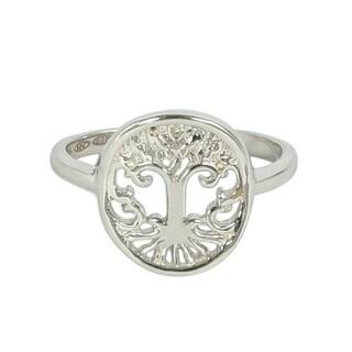 Platinum Tree of Life Ring