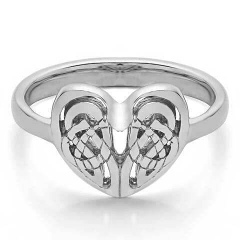 Platinum Celtic Heart Ring