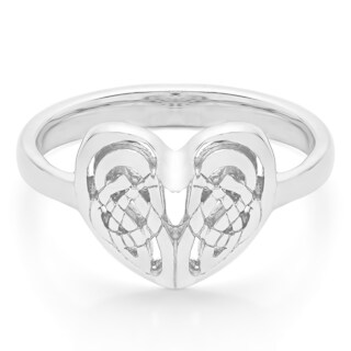 Platinum Celtic Heart Ring