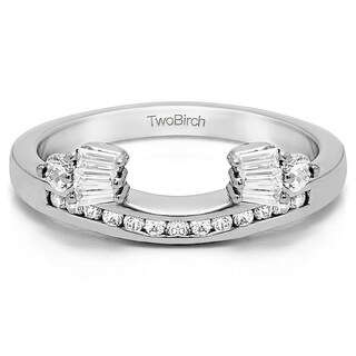 Sterling Silver Classic Style Anniversary Ring Wrap With Cubic Zirconia (0.71 Cts.)
