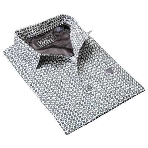 DaVinci Men's 'Eugene' Silver Cotton Shirt