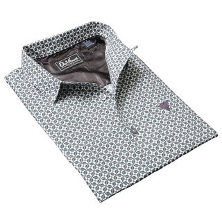 DaVinci Men's 'Eugene' Silver Cotton Shirt