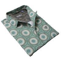 DaVinci Men's Arthur Green Cotton Shirt