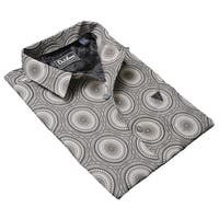 DaVinci Men's Arthur Grey Cotton Shirt