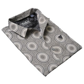 DaVinci Men's Arthur Grey Cotton Shirt