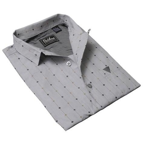 DaVinci Men's Vincent Grey Cotton Shirt