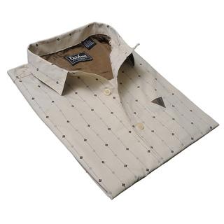DaVinci Men's 'Vincent' Beige Cotton Shirt