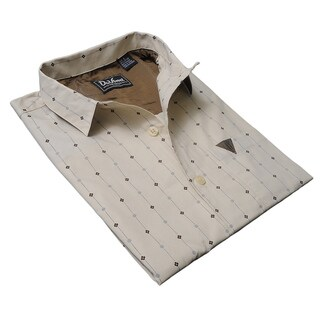 DaVinci Men's 'Vincent' Beige Cotton Shirt