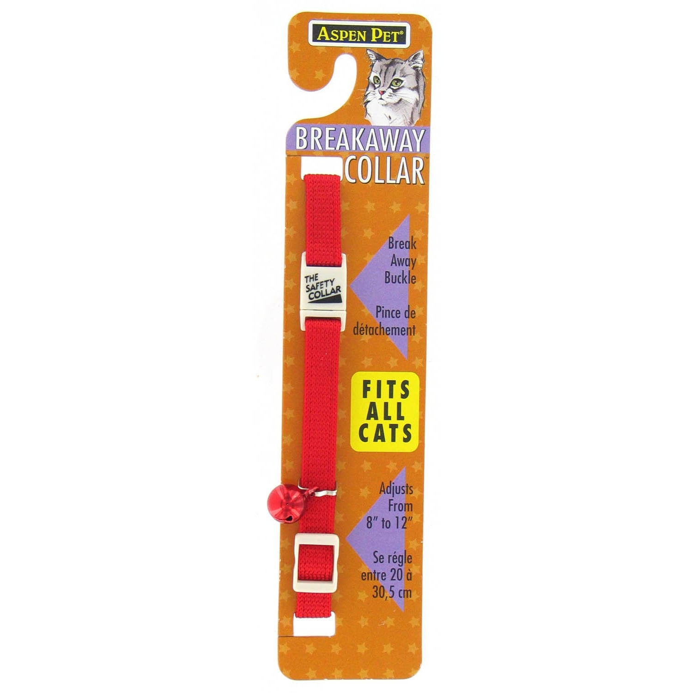 "Petmate 3/8"" Adjustable Breakaway Cat Collar (Red), Size XXS"