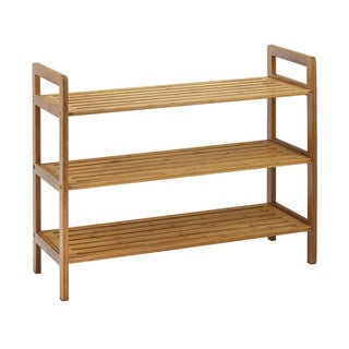 Oceanstar 3-tier Natural Finish Bamboo Shoe Rack