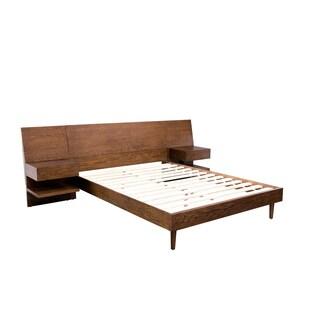 INK+IVY Clark Pecan California King Bed with 2 Nightstands
