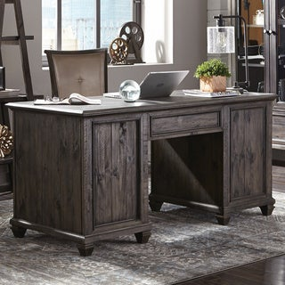 Sutton Place Executive Desk in Weathered Charcoal
