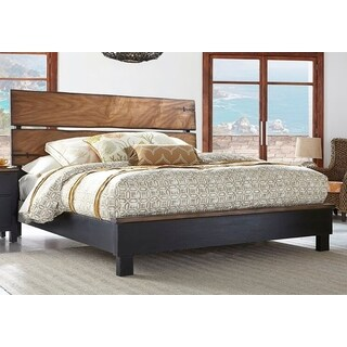 Panama Jack Big Sur Black and Brown Wood Panel Bed