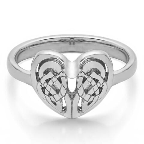 Sterling Silver Celtic Heart Ring