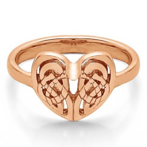 10k Gold Celtic Heart Ring
