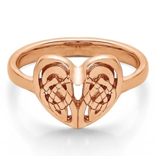 10k Gold Celtic Heart Ring