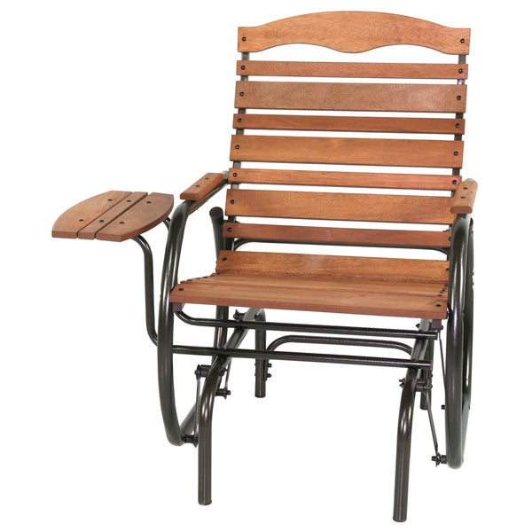 Shop Jack Post Wood Glider Chair With Tray 35 5 Inch Long