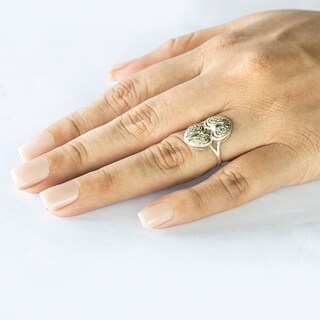 Platinum Celtic Double Heart Ring