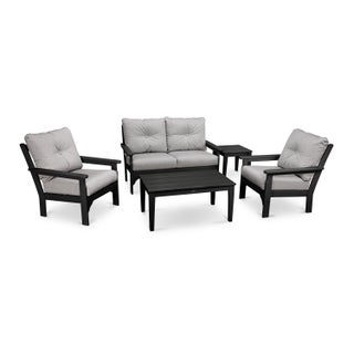 Vineyard 5-Piece Deep Seating Set (More options available)