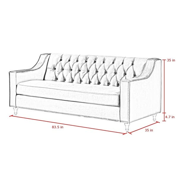 Groovy Shop Webster Velvet Button Tufted Sofa With Lucite Acrylic Pabps2019 Chair Design Images Pabps2019Com