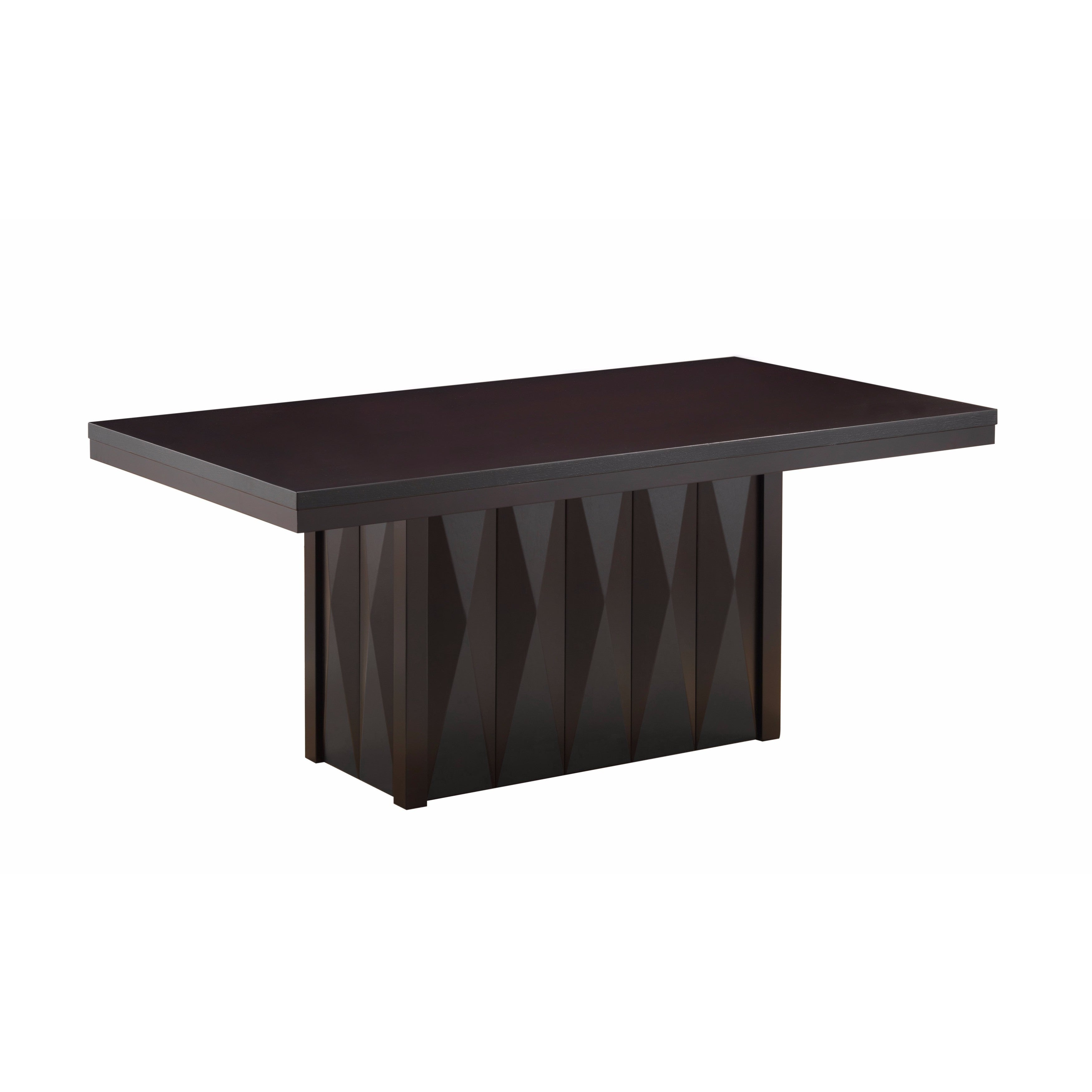 Picture of: Modern Dinette Cappuccino Wood Rectangular Dining Room Table Overstock 15050445