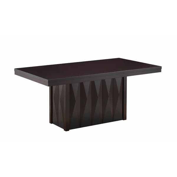 Modern Dinette Cuccino Wood Rectangular Dining Room Table