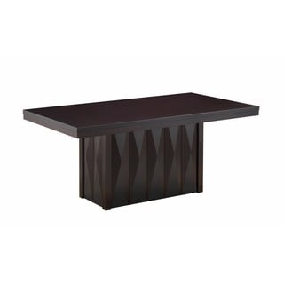 Modern Dinette Cappuccino Wood Rectangular Dining Room Table