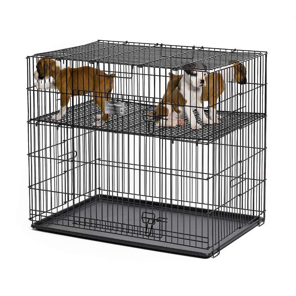 Midwest Puppy Playpen with Plastic Pan and Floor Grid (48...