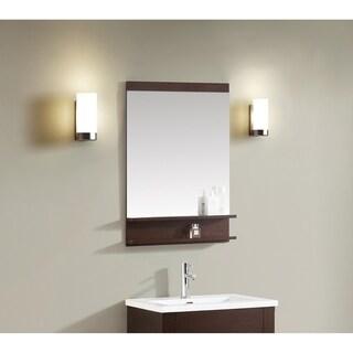 Azzuri CityLoft 24 in. Mirror in Light Espresso finish