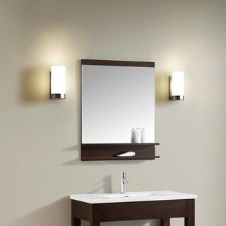 Azzuri CityLoft 28 in. Mirror in Light Espresso finish