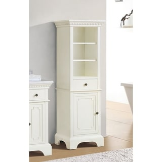 """Azzuri Hastings French White 22-inch Linen Tower - 22""""W x 65""""H"""