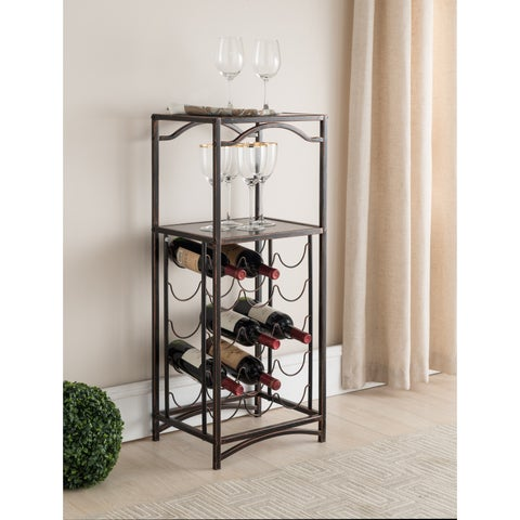 Brushed Copper Metal Storage Wine Rack