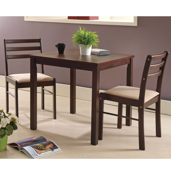 Pilaster Designs - Espresso Wood 3 Piece Dining Room ...