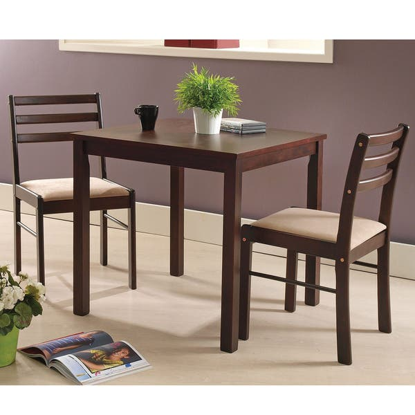 Espresso Wood 3 Piece Dining Room