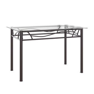 Porch & Den LoDo Wazee Bronze Metal and Glass Dining Table|https://ak1.ostkcdn.com/images/products/15050706/P21544166.jpg?impolicy=medium