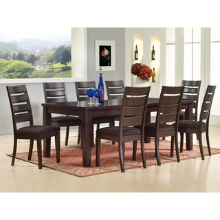 K and B Furniture Co Inc New Martini Espresso Wood Slatback Kitchen/Dining/Dinette Side Chairs (Set of 2)