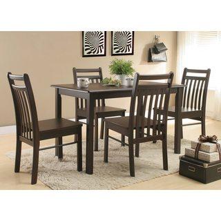 Sampdoria Espresso Wood Kitchen Dinette Chairs (Set of 2)