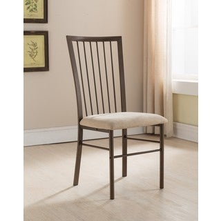 K and B Furniture Co. Inc. Copper and Brown Metal Kitchen Dining Side Chairs (Set of 4)