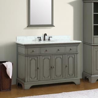 Azzuri Hastings 49 in. Vanity with Carrera White Marble Top https://ak1.ostkcdn.com/images/products/15050768/P21544152.jpg?impolicy=medium