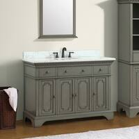 Azzuri Hastings 49 in. Vanity with Carrera White Marble Top