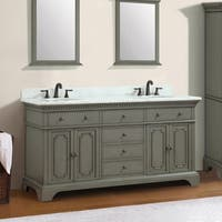Azzuri Hastings 73'' Double Vanity with Carrera White Marble Top