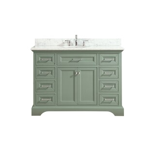 Azzuri Mercer 49 in. Vanity in Sea Green finish with Carrera White Marble Top|https://ak1.ostkcdn.com/images/products/15050772/P21544156.jpg?_ostk_perf_=percv&impolicy=medium