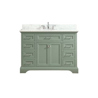 Azzuri Mercer 49 in. Vanity in Sea Green finish with Carrera White Marble Top https://ak1.ostkcdn.com/images/products/15050772/P21544156.jpg?impolicy=medium