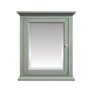 Azzuri Mercer 24 in. Mirror Cabinet in Sea Green finish