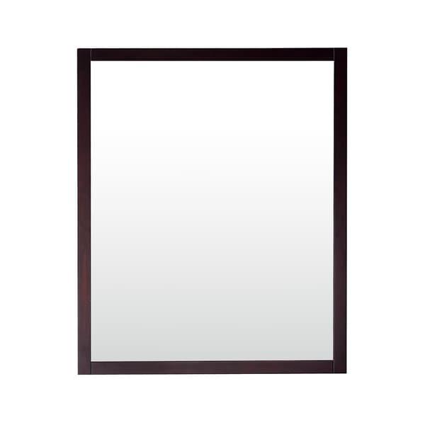 Azzuri Rockford 28 in. Mirror in Dark Espresso finish