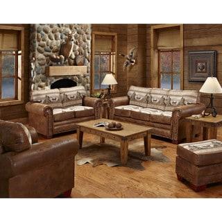 Alpine Cabin Lodge 4 piece Living Room Sleeper Set