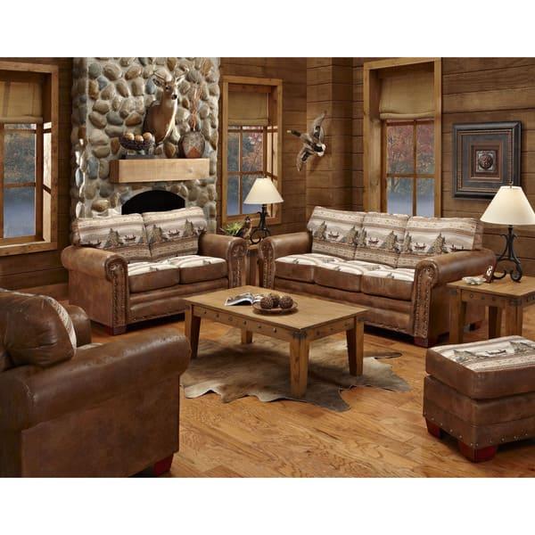 Shop Alpine Cabin Lodge 4 Piece Living Room Sleeper Set On